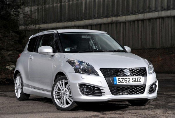 best used car in India Maruti Suzuki Swift front look white