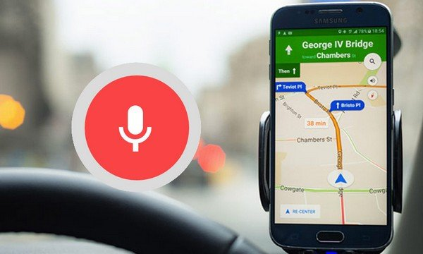 using voice direction GPS for driving