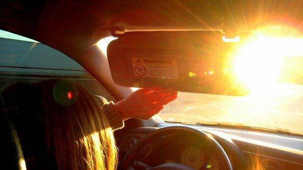 sunshine inside car cabin