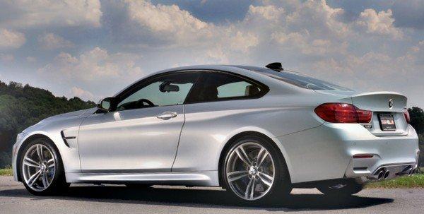 Car in silver colour rear look