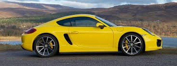 Car in yellow colour