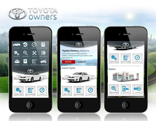 toyota free apps for driving