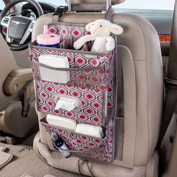 using Organizers to keep car interior clean