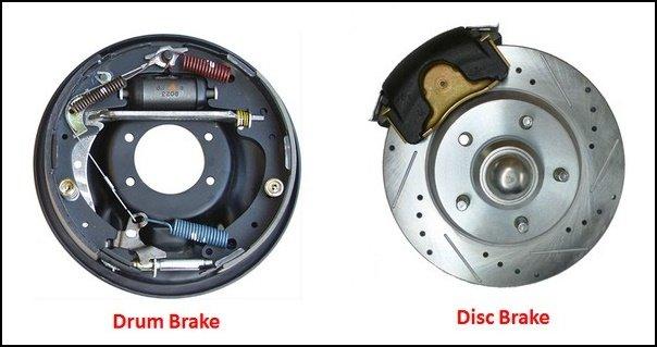 Drum brake vs disc brake differences
