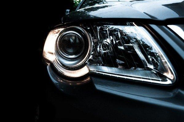 car headlights night background