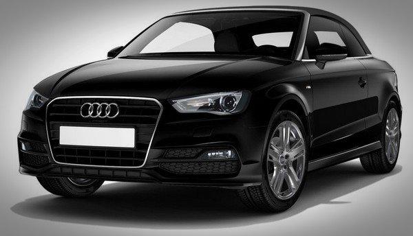 Car in black colour font look