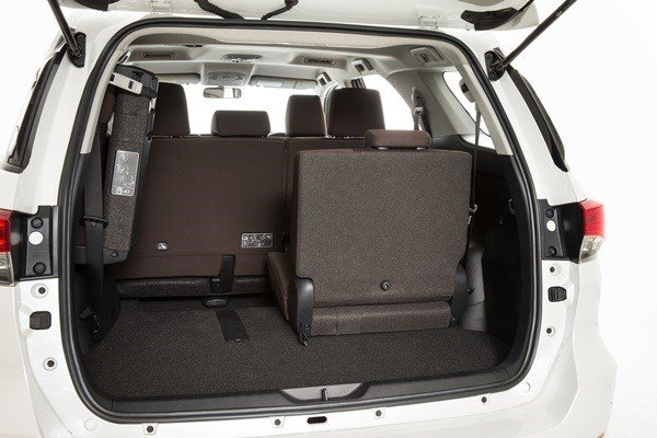 boot room Toyota Fortuner 2018 India