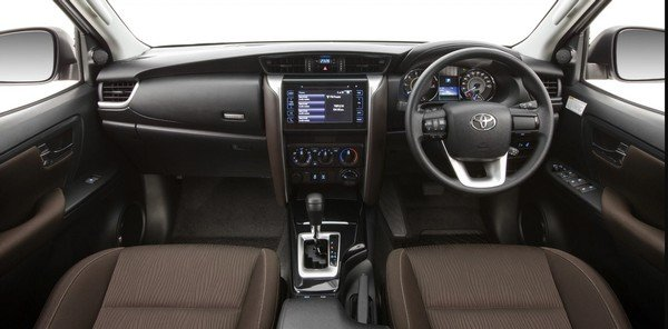 The new dashboard of the latest Toyota Fortuner