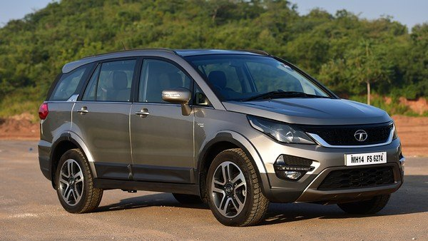 Tata Hexa front and side view grey