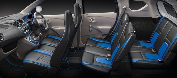 Datsun GO Plus interior cabin layout