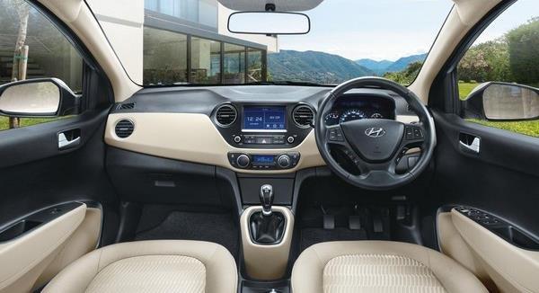 Hyundai Xcent 2018 interior