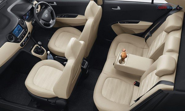 Hyundai Xcent beige and black cabin