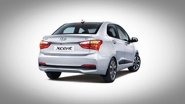 Hyundai Xcent rear look silver