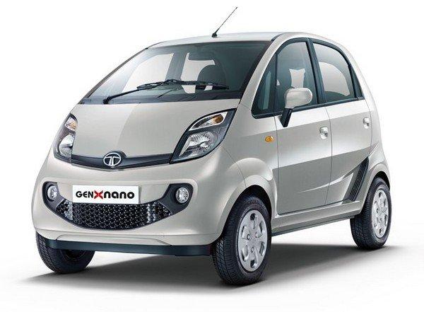 Tata Nano 2018 grey front and side