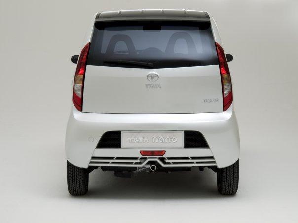 Tata Nano 2018 rear white