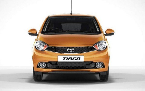 Tata Tiago exterior front orange