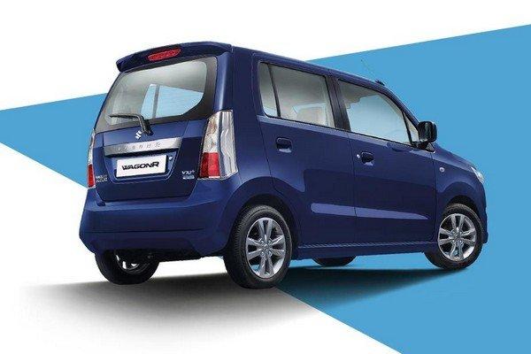 Maruti Suzuki Wagon R 2018 rear and side look blue