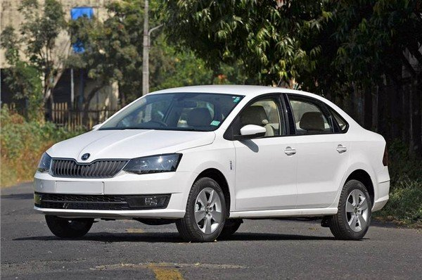 2018 Skoda Rapid on road, right view