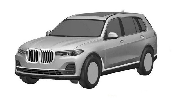 BMW X7 Front and side view