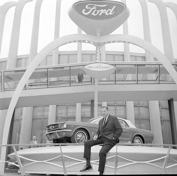 Ford Mustang at showcase in 1964