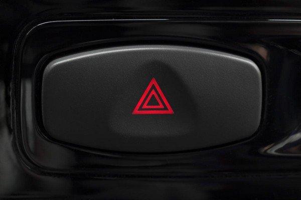 red icon of hazard warning button