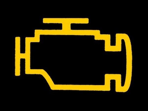 orange icon of engine warning