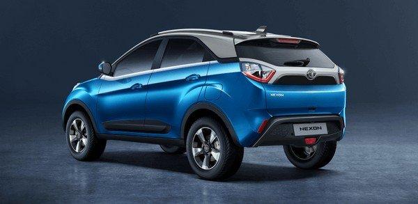 Tata Nexon 2018 rear side blue color