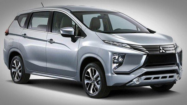 Mitsubishi Xpander silver color front look from left to right