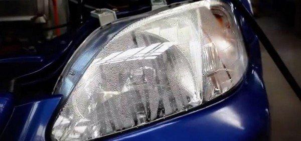 condesated headlights