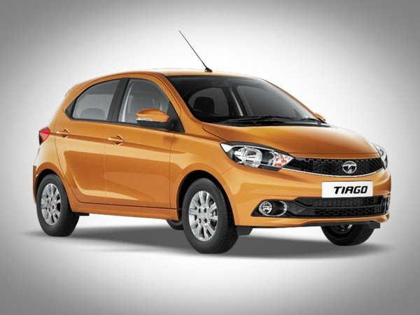 Tata Tiago brown color front view