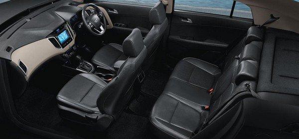 Hyundai Creta's interior layout
