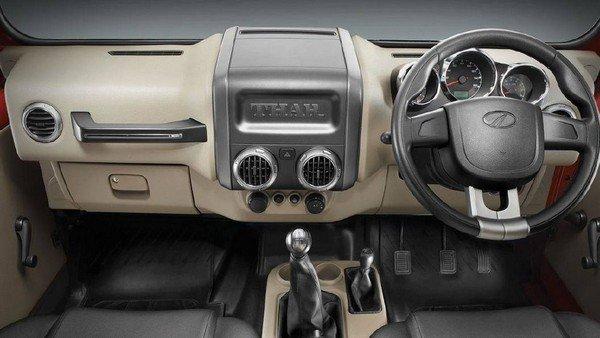 Mahindra Thar's interior dashboard