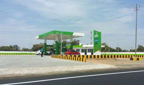 fuel station of My Own Eco Energy Pvt Ltd (MEE) green color