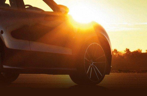 Car under blazing sun