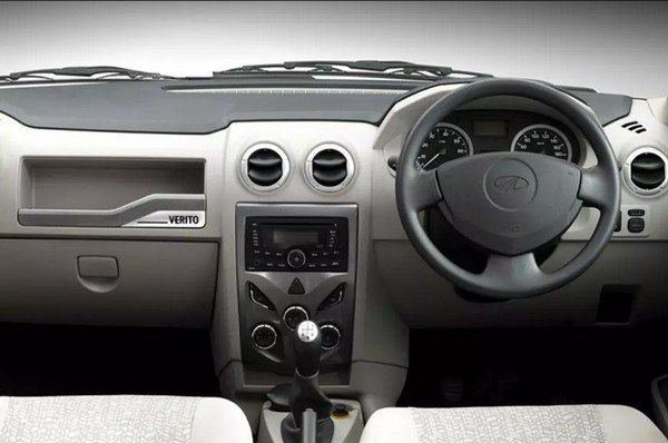 Mahindra verito's cabin, right sideways view