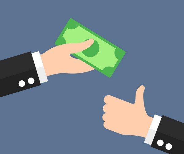 handing money graphic