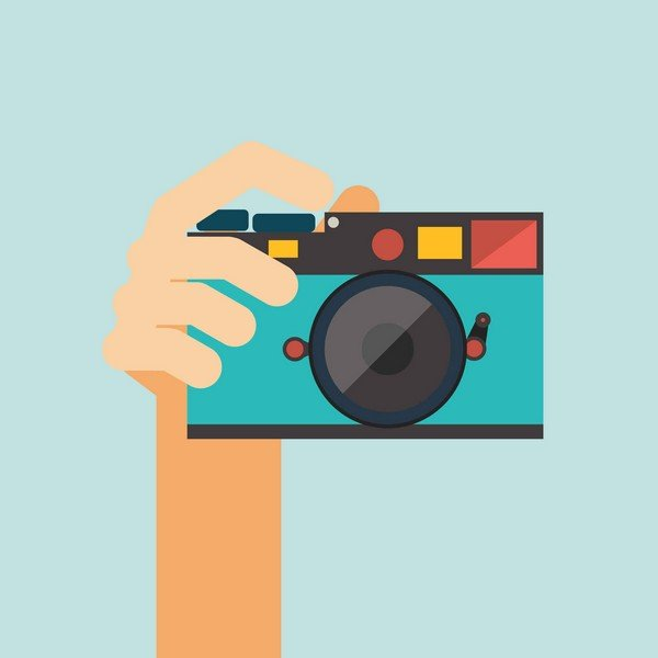 taking picture with camera graphic