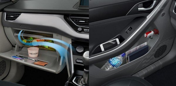 Tata Nexon interior storage space