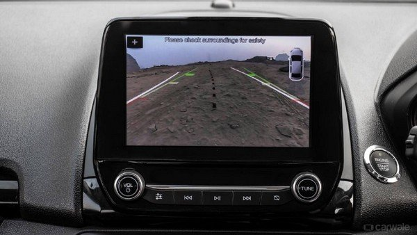 Ford EcoSport's touchscreen with adaptive guideline