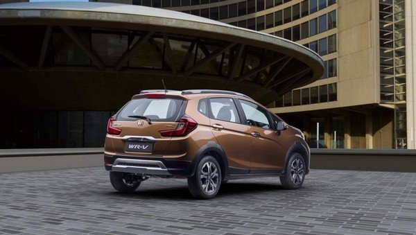 Honda WRV brown color rear look city background