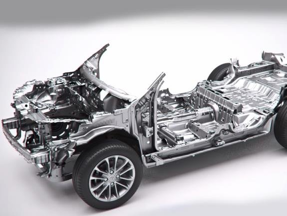 car frame from Tata Motors right to left