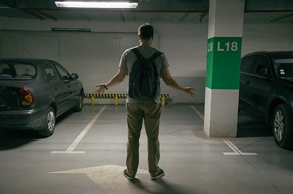 a man find his car disappear from the garage