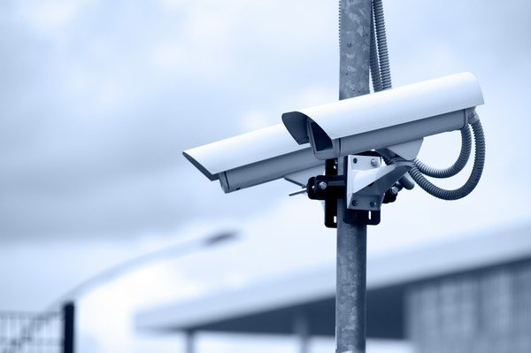 white street security cameras