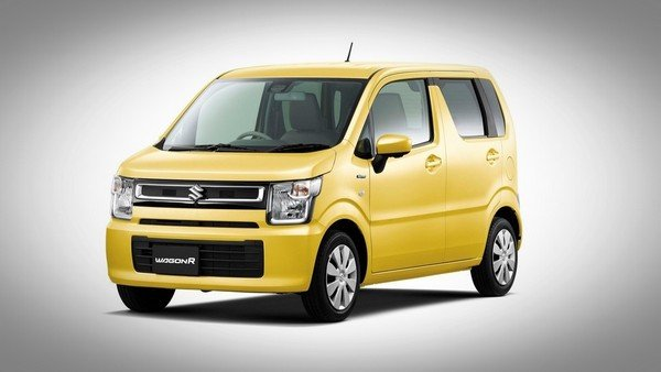 Maruti Suzuki Wagon R 2019 Yellow front and side look