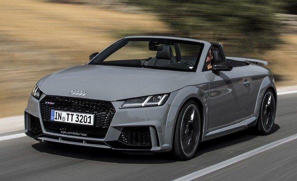 An Audi TT driving at high speed