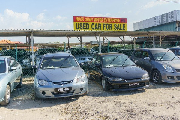 A car yard which sells a lot of used cars