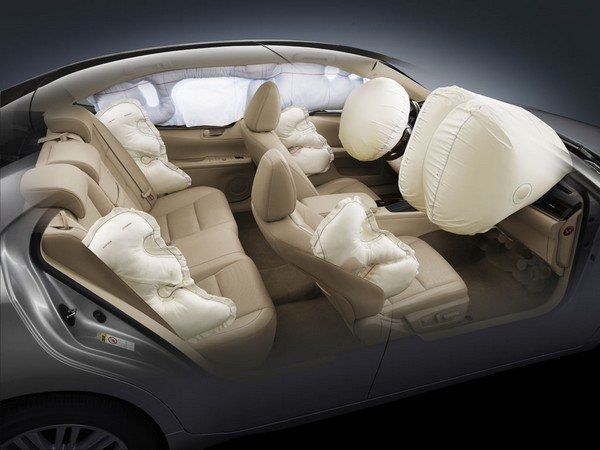 car cabine with six airbags