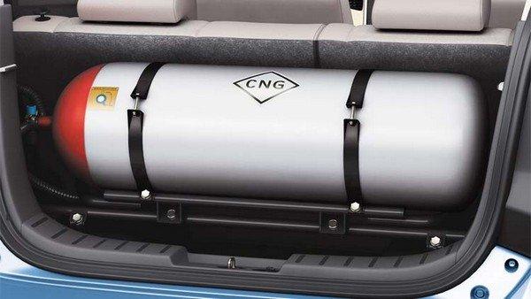 compressed natural gas in a car trunk
