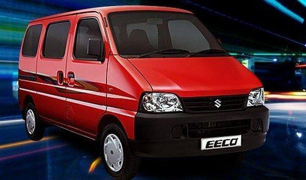 Red Maruti Suzuki Eeco side view