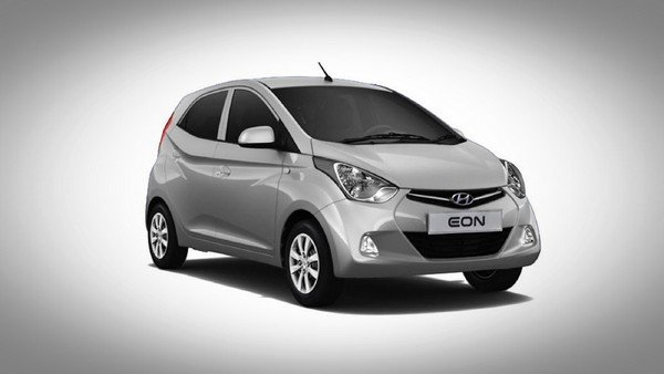 Silver Hyundai Eon front-side view